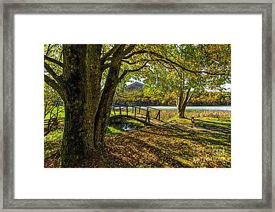 Peaks Bridge Framed Print by Mark East