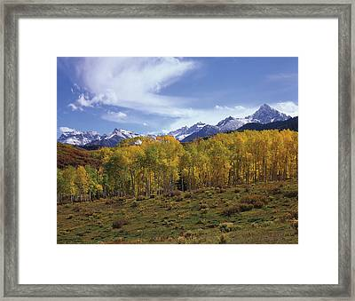 Peaks - In - View Framed Print