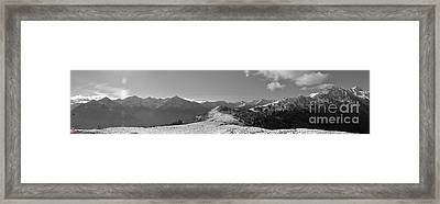 Peaks Framed Print by Marco Affini