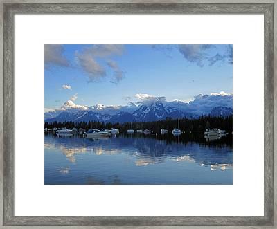 Peaks Of Glory Framed Print
