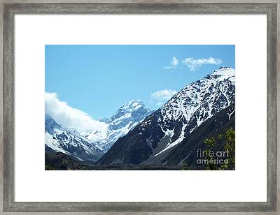 Peaks Of New Zealand Framed Print