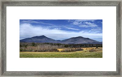 Peaks Of Otter Mountains Framed Print