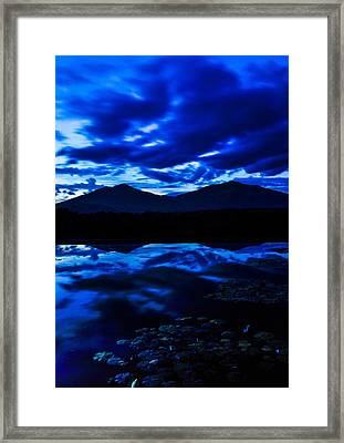 Peaks Of Otter Reflection Framed Print by Sherri Quick