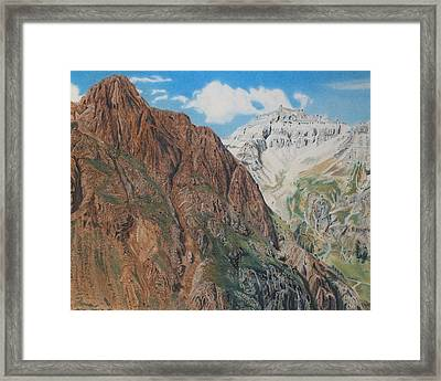 Peaks Of Ouray Framed Print