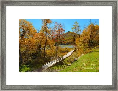Peaks Walk Framed Print by Mark East