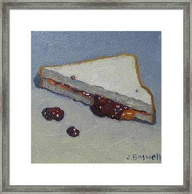 Peanut Butter And Jelly Sandwich Framed Print by Jennifer Boswell