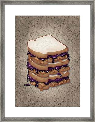 Peanut Butter And Jelly Sandwich Framed Print