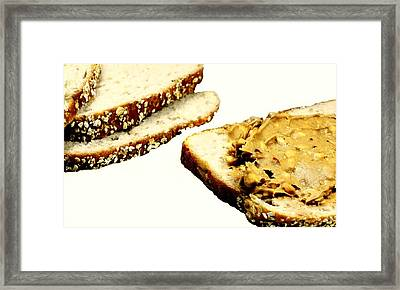 Peanut Butter On Oatmeal Bread Framed Print by Diana Angstadt