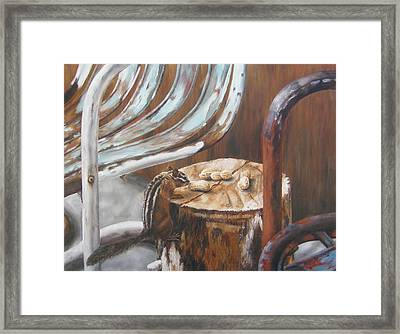 Framed Print featuring the painting Peanuts by Lori Brackett