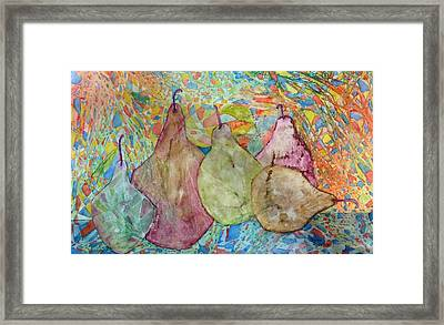 Pear-a-dice Framed Print