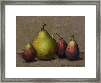 Pear And Figs Framed Print by Clinton Hobart