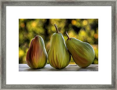 Pear Buddies Framed Print