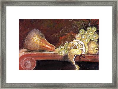 Pear Framed Print by CJ  Rider