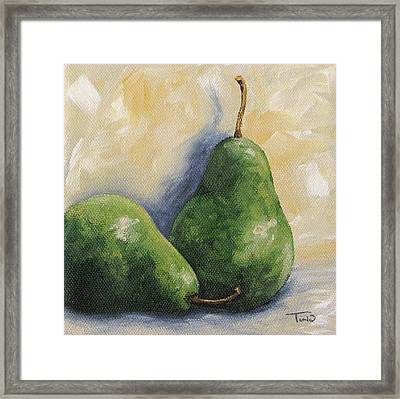 Pear Duet Framed Print