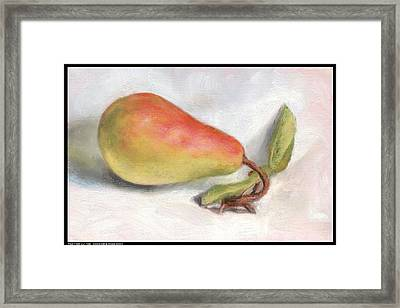 Pear From Our Tree Framed Print