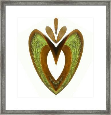 Pear Heart Framed Print