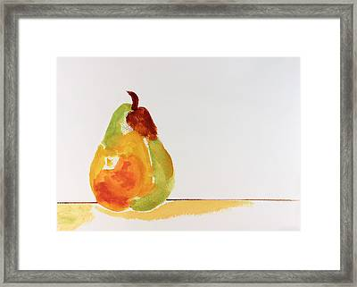 Pear In Autumn Framed Print by Frank Bright