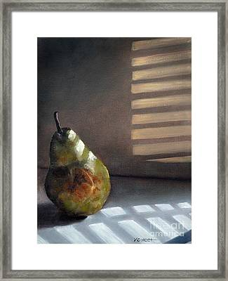 Pear In Morning Light Framed Print