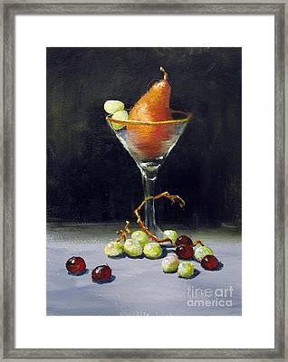 Pear Martini Framed Print