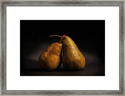Pear Of Lovers Framed Print by Peter Tellone