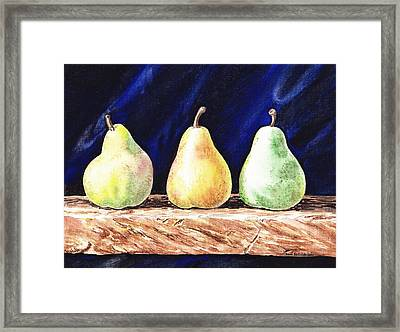 Pear Pear And A Pear Framed Print by Irina Sztukowski