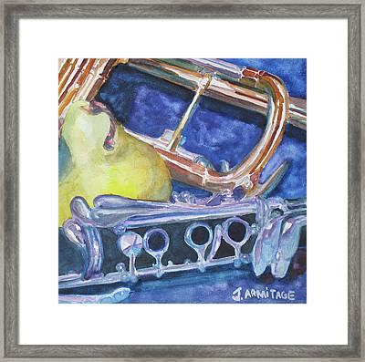 Pear Roadie Framed Print by Jenny Armitage