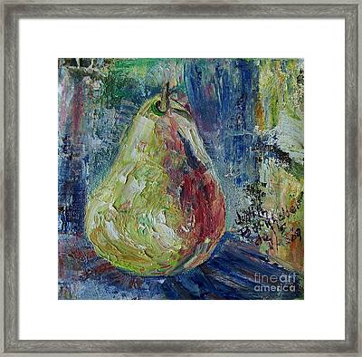 Pear - Sold Framed Print by Judith Espinoza