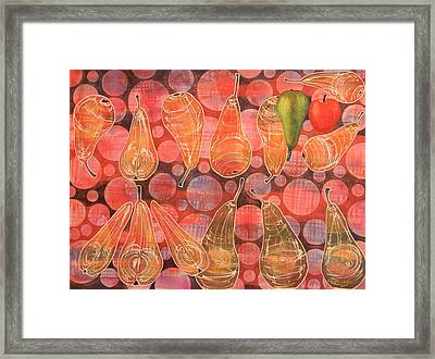 Pear Sphere Framed Print by Adel Nemeth