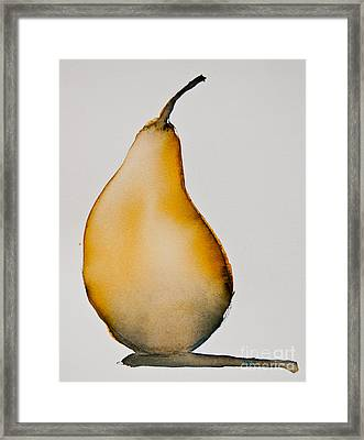 Pear Study Framed Print by Jani Freimann