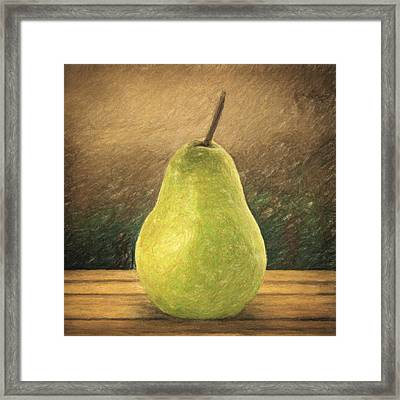 Pear Framed Print by Taylan Apukovska