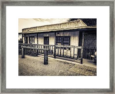 Pearce Arizona Post Office Framed Print by Barb Hauxwell