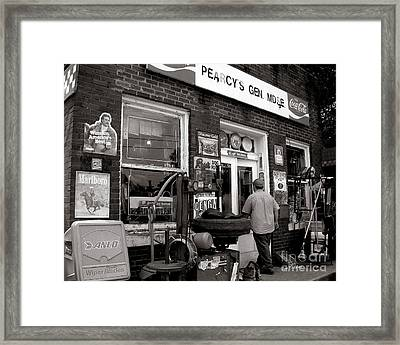 Pearcy S  Gen Mdse  Framed Print by   Joe Beasley