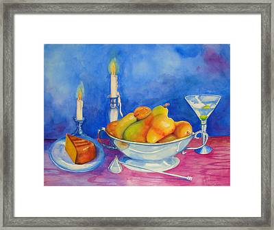 Pearis By Candlelight  Framed Print