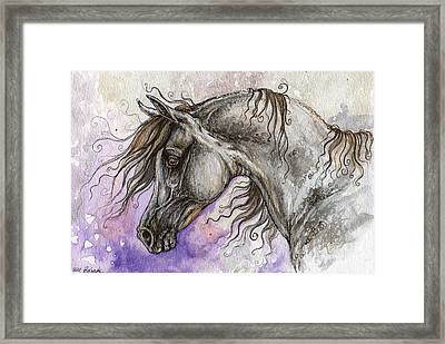 Pearl Arabian Horse Framed Print by Angel  Tarantella