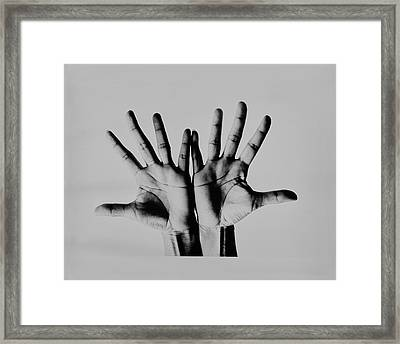 Pearl Bailey's Hands Framed Print by Bert Stern