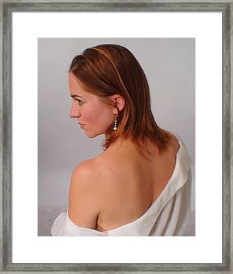 Pearl Earring Framed Print