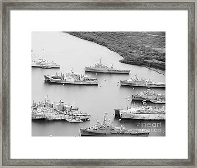 Pearl Harbor Battleships Framed Print