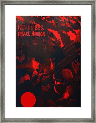 Pearl Harbor Oahu Framed Print by Bari Demers
