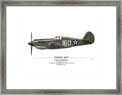 Pearl Harbor P-40 Warhawk - White Background Framed Print by Craig Tinder