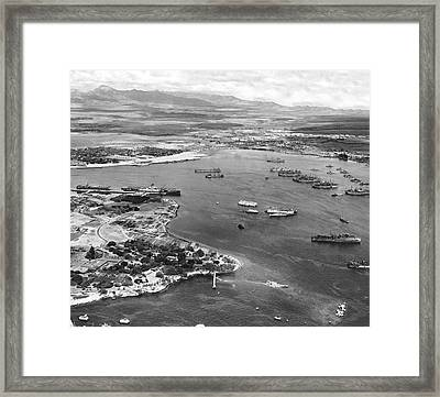 Pearl Harbor Framed Print by Underwood Archives