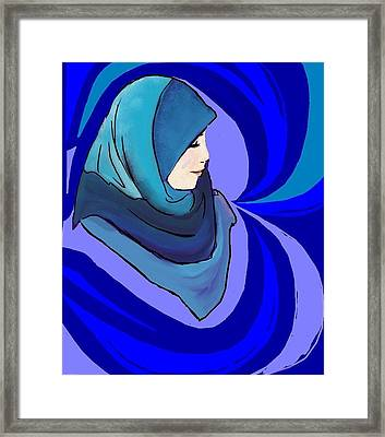 Pearl In A Shell Framed Print by Shaz Aslam
