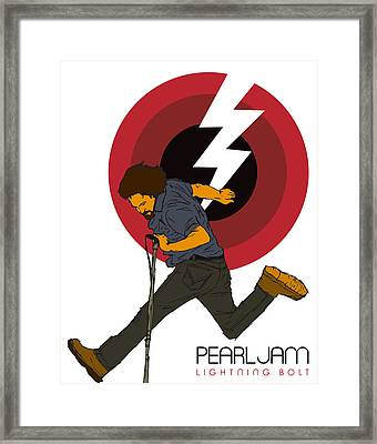 Pearl Jam Lightning Bolt Framed Print