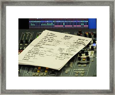 Pearl Jam Set List- Moline Framed Print by Gary Koett