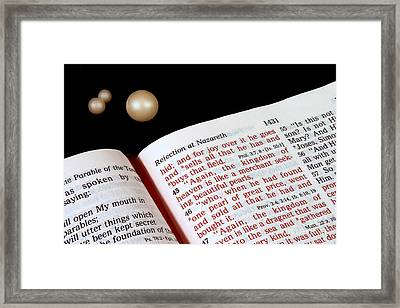 Pearl Of Great Price Framed Print