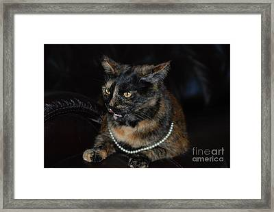Framed Print featuring the photograph Pearl  by Oksana Semenchenko