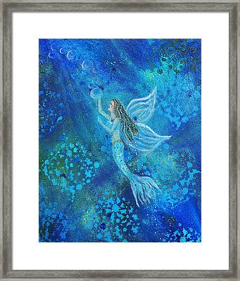 Pearl Out Of The Depths Framed Print by The Art With A Heart By Charlotte Phillips