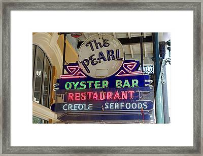 Pearl Oyster Bar Framed Print
