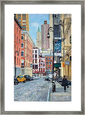 Pearl Paint Canal St. From Mercer St. Nyc Framed Print