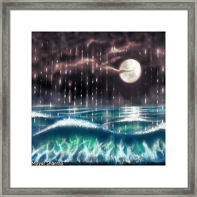 Pearl Rain @ Precious Pearl Ocean Framed Print
