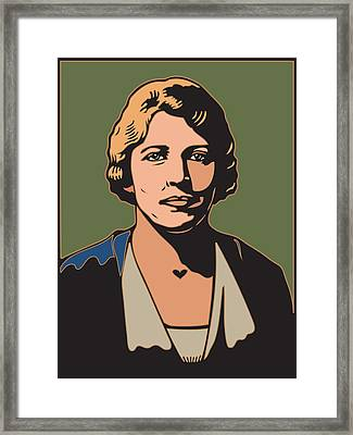 Pearl S Buck Framed Print